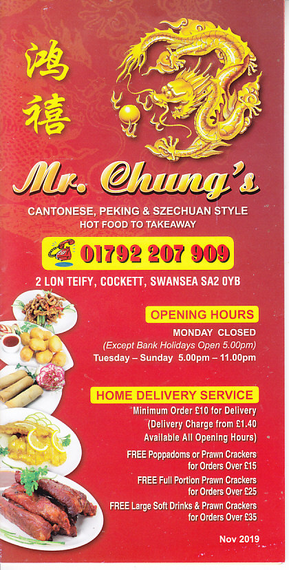 Mr Chungs Chinese Takeaway In Swansea